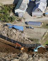 北海道地震被災地も台風警戒 災害ごみ、片付け急ぐ
