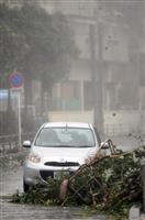 台風24号、沖縄に接近 知事選期日前投票、一部で中止