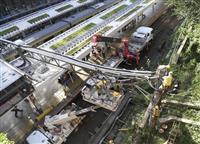 【台風24号】関東で40万戸以上が停電 電車が倒壊した塀と接触も