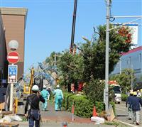【台風24号】改修工事のショッピングモール足場が崩壊 さいたま市内