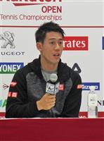 錦織圭、もたつきながらも初戦突破 楽天テニス 日本人対決で「あまり勝ち負けつけたくない…