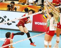 日本、メキシコ下し2勝目 バレー女子世界選手権
