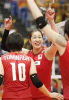 日本、リセットして完勝 世界バレー女子 「もっと点取りたい」と長岡