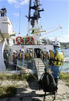 北海道警と海保、離島の地震被害想定…焼尻島などで負傷者救助訓練