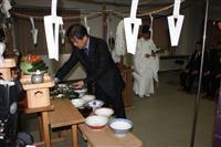 とん(10)こつ(2)ラーメンの日に「豚供養祭」 久留米のラーメン店主ら