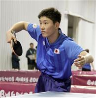 張本智和は全勝に「まあまあ」 ユース五輪卓球