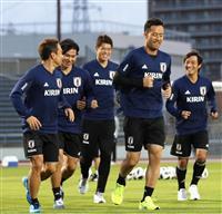 サッカー日本代表、23選手そろって練習