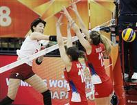 日本、セルビア崩す 逆転呼んだ途中出場の石井 バレー女子世界選手権