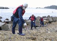被災地沿岸部で不明者捜索 東日本大震災7年7カ月、宮城など