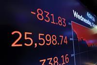 NY株急落 831ドル安、過去3番目下げ幅