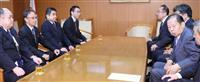 玉城デニー沖縄知事、自民・二階俊博幹事長と面会 「移設反対」直接伝達 首相とは12日初…