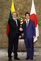 北朝鮮非核化 安保理決議の完全履行が重要 日・リトアニア首脳会談