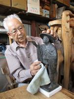 草加の彫刻家、芭蕉像原型を市に寄贈 河合曽良像も