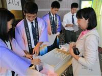 福島の高校生、草加で特産品販売 安心・安全な食材どうぞ
