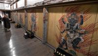 【動画あり】五大明王壁画 色鮮やか 京都・仁和寺で初公開