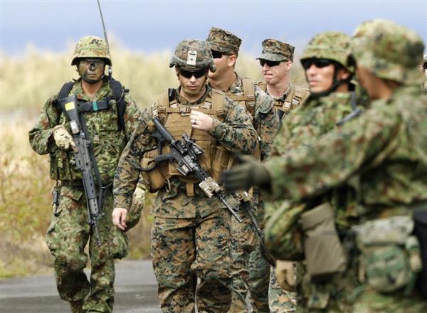 島嶼奪還で日米共同訓練