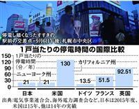 【日曜経済講座】北海道ブラックアウト 安定供給を脅かす電力自由化