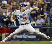 【MLB】ドジャース勝利で1勝1敗 前田健太、打者1人を抑える