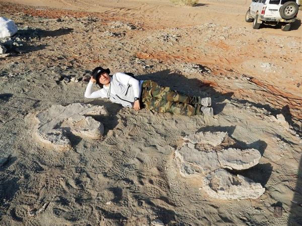 最大級の鳥脚類足跡化石 岡山理大などモンゴルで発見
