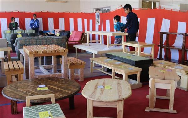 匠の家具や小物ずらり 神戸刑務所で矯正展