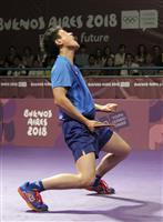 張本智和、平野美宇の日本が決勝へ ユース五輪の卓球混合団体