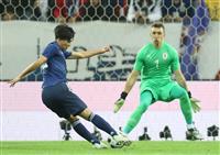 サッカー日本代表-ウルグアイ戦速報(2)日本が南野のゴールで先制