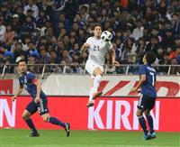 サッカー日本代表-ウルグアイ戦速報(6)ミスからカバニに同点ゴールを許す