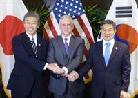 北朝鮮非核化へ緊密協力 日米韓防衛相、瀬取りも