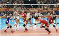 日本6位、最終戦飾れず バレー女子世界選手権、米国に完敗