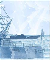 【昭和天皇の87年】日出づる国の皇太子旗、大海原にひるがえる