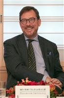 【第30回世界文化賞】ピエール・アレシンスキーさん(絵画部門)の代理で出席したベルギー…