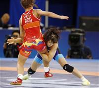 須崎優衣、決勝へ 世界レスリング女子50キロ級