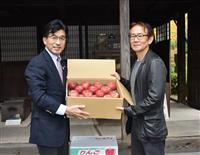 周防正行監督の新作「カツベン!」、福島で撮影順調 市長、リンゴ3ケース差し入れ