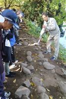 山形城の「屏風折れ土塀」延伸部分発見 計400メートルの礎石