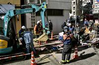 ガス管工事現場で爆発 作業員3人重軽傷、神戸