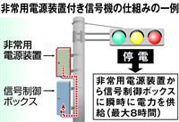 台風21号、大阪で信号700基超消える 消えない信号普及せず