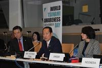 「世界津波の日」ニューヨーク国連本部で陸前高田市長が報告