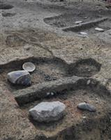 天龍寺高僧?富裕層?の墓が出土 京都 室町時代の火葬跡