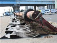 全長32メートルでゴム製すだれ? 東京湾にナゾの人工物