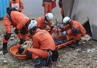 海外の大規模災害想定、仙台市消防局と9道県の救助隊が訓練