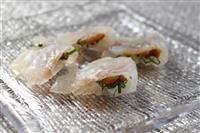 【料理と酒】ヒラメの昆布締め 梅ソース 純米大吟醸酒とどうぞ