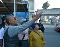 姫路モノレールを今に伝える 元運転士・米田さん、廃線跡案内「未来の乗り物だった」