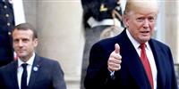 トランプ氏が首脳会談でマクロン仏大統領に不満表明