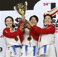 団体男女形で日本が2連覇 空手世界選手権最終日