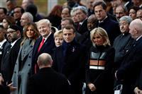 パリで大戦終結記念式 米露など70カ国・国際機関の首脳が参加