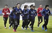 サッカー日本代表、大分で合宿開始 攻撃で成熟図る