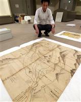 大阪・千早赤阪村 楠木正成関連の旧跡記す 最古級の鳥瞰図見つかる