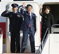 安倍首相、午後にプーチン露大統領と会談へ シンガポールに出発