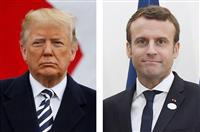 トランプ氏が連続ツイートで仏大統領を批判