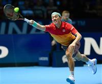 錦織圭の敗退決定 ティエムに敗れ1勝2敗 ATPファイナル